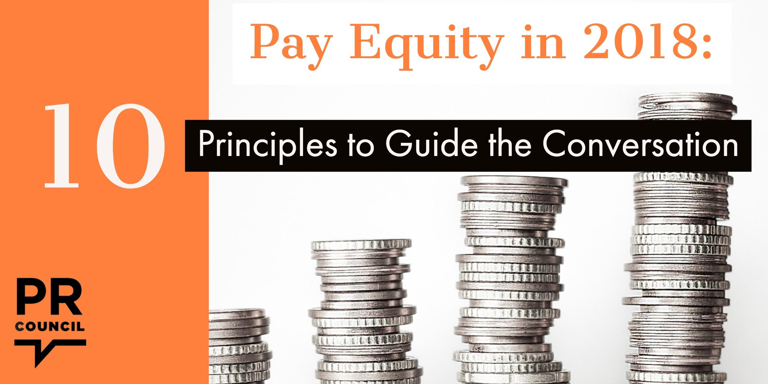 Pay Equity in 2018: Principles to Guide the Conversation